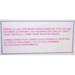 CAMBIOS DE PRECIOS.
